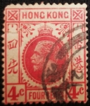 Sellos del Mundo : Asia : Hong_Kong : king George V