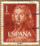 sellos de Europa - España -  Centenario del nacimiento de LEANDRO FERNANDEZ DE MORATIN