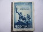Sellos de America - Argentina -  150º Aniv.  reación de la Bandera Nacional.