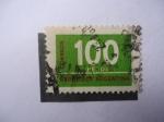 Sellos de America - Argentina -  Cifras- Cien pesos-República Argentina.