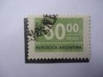 Sellos de America - Argentina -  Cifras-Cincuenta pesos-República Argentina.