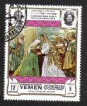 Sellos de Asia - Yemen -  La visitación, por Lotto