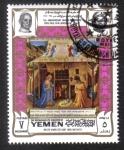 Stamps Yemen -  Natividad, de Beato Angelico