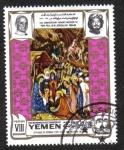 Sellos de Asia - Yemen -  La adoración de los Magos, por Stefano da Verona