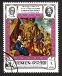 Sellos de Asia - Yemen -  La adoración de los Magos, por Durero