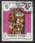 Sellos de Asia - Yemen -  La masacre de los inocentes, por Ottino