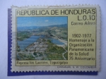Sellos de America - Honduras -  Represa Los Laureles, Tegucigalpa-Homenaje a la Organizacion Panamericana de la Salud-75º Anivers