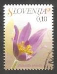 Sellos del Mundo : Europa : Eslovenia : 560 - Anémona, pulsatilla grandis