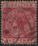 Stamps Europe - Gibraltar -  Victoria