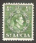 Sellos del Mundo : America : Santa_Lucia : 108 - George VI