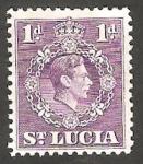 Sellos del Mundo : America : Santa_Lucia : 109 - George VI