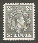 Sellos de America - Santa Lucia -  111 - George VI