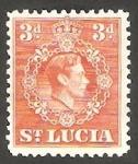 Sellos del Mundo : America : Santa_Lucia : 113 - George VI