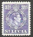 Sellos del Mundo : America : Santa_Lucia : 126 - George VI
