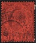 Sellos de Europa - Gibraltar -  Edward VII