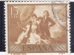 Stamps Spain -  el quitasol (Goya)  (21)