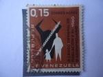 Stamps Venezuela -  IX Censo General de Población y el III Agropecuario 1960.