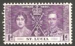 Sellos del Mundo : America : Santa_Lucia : 105 - Coronación de George VI