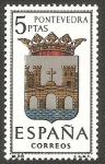 Sellos de Europa - España -  1632 - Escudo de la capital de provincia de Pontevedra