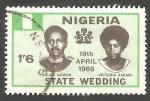 Stamps : Africa : Nigeria :  229 - Boda del Mayor General Yakubu Gowon con Miss Victoria Zakari