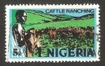 Stamps Nigeria -  284 - Cuidando el ganado