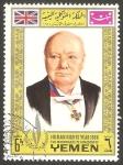 Stamps Yemen -  261 - Año de los derechos del hombre, Churchill