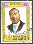 Stamps Yemen -  261 - Año de los derechos del hombre, Martin Luther King