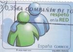 Sellos de Europa - España -  valores cívicos-RESPETO EN LA RED  (21)