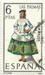 Stamps Spain -  TRAJES TÍPICOS ESPAÑOLES. GRUPO II. Nº 19. LAS PALMAS. EDIFIL 1845