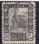 Stamps Libya -  proa de un barco