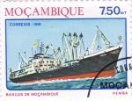 Sellos de Africa - Mozambique -  barco de Moçambique
