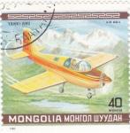 Stamps Mongolia -  avioneta