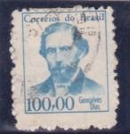 Stamps Brazil -  Gonçalves Días