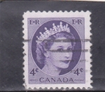 Stamps : America : Canada :  Isabel II