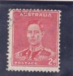 Sellos de Oceania - Australia -  Rey George VI