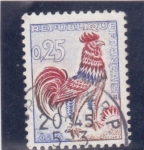 Stamps : Europe : France :  gallo- símbolo frances