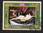 Stamps Yemen -  Diego Velazquez 1599-1660