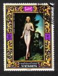Stamps Yemen -  Lucas Cranach 1472 - 1553