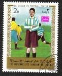 Sellos de Asia - Yemen -  Charles de Gaulle como jugador de fútbol