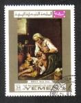 Stamps Yemen -  ' Vestido de la casa ' de Murillo