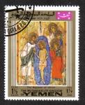 Sellos de Asia - Yemen -  Iconos de Navidad