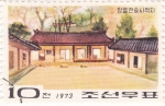 Sellos de Asia - Corea del norte -  casas típicas