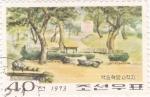 Sellos de Asia - Corea del norte -  paisaje tipico