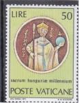 Sellos de Europa - Vaticano -  sacrum hungarise millenium