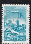 Stamps Hungary -  avión sobrevolando Beirut