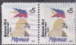 Stamps : Asia : Philippines :  aguila y bandera
