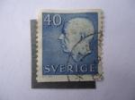 Stamps Sweden -  Gustavo VI - Adolfo de Suecia.