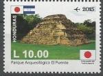 Stamps Honduras -  PARQUE  ARQUEOLÒGICO  EL  PUENTE