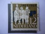 Stamps Netherlands -  Desembarco del Principe Guillermo de Orange -Conmemoración de 150 Aniversario de la Independencia-18