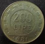 monedas de Europa - Italia -  1981 (Reverso)